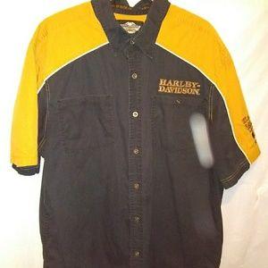Harley Davidson 110 Anniversary button down shirt